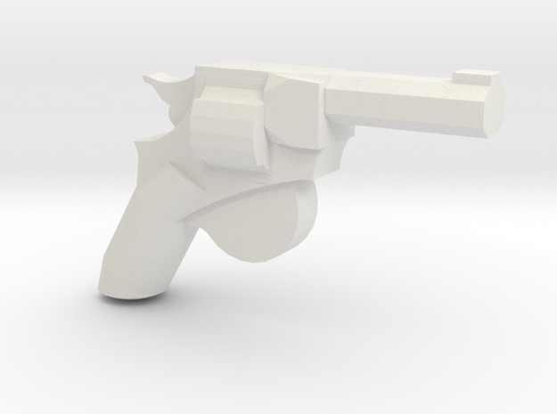 Man Stopper Revolver in White Natural Versatile Plastic
