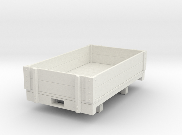 Gn15 low open wagon in White Natural Versatile Plastic
