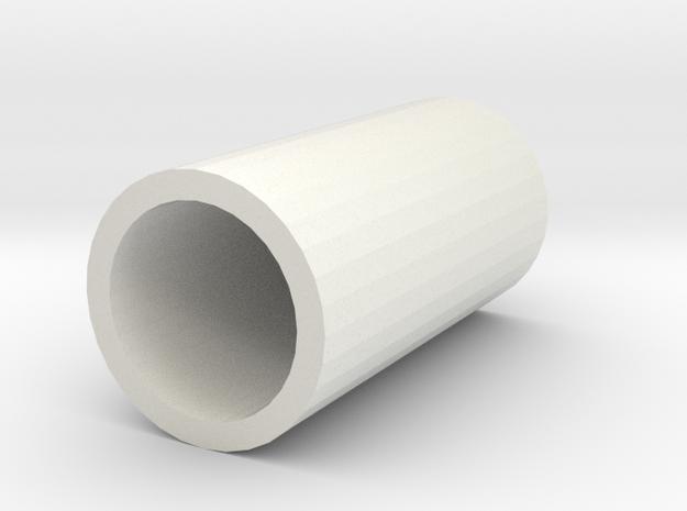 Cylinder in White Natural Versatile Plastic