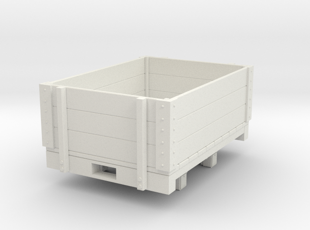 Gn15 open wagon (short) in White Natural Versatile Plastic