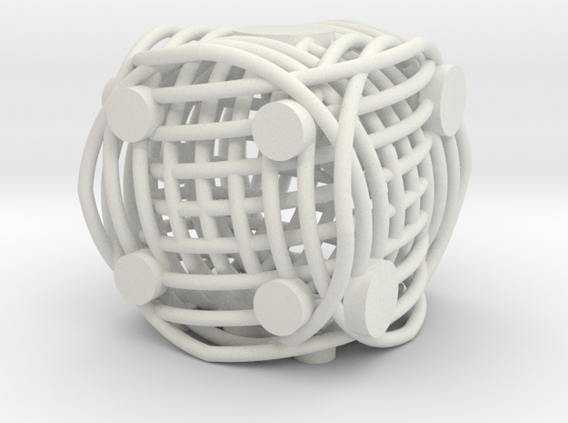 Spiral Die in White Natural Versatile Plastic