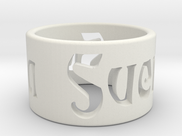 Svenja Ring Final in White Natural Versatile Plastic