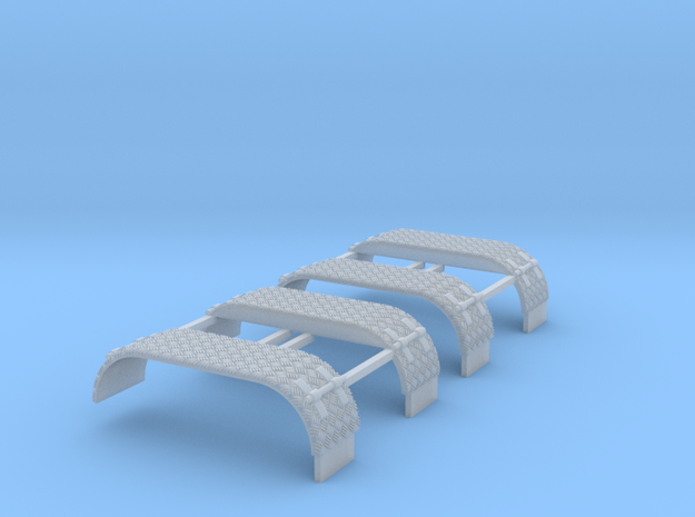 Kotflügel-doppel Mit Krähenfußblech -WLF 2x  in Smooth Fine Detail Plastic