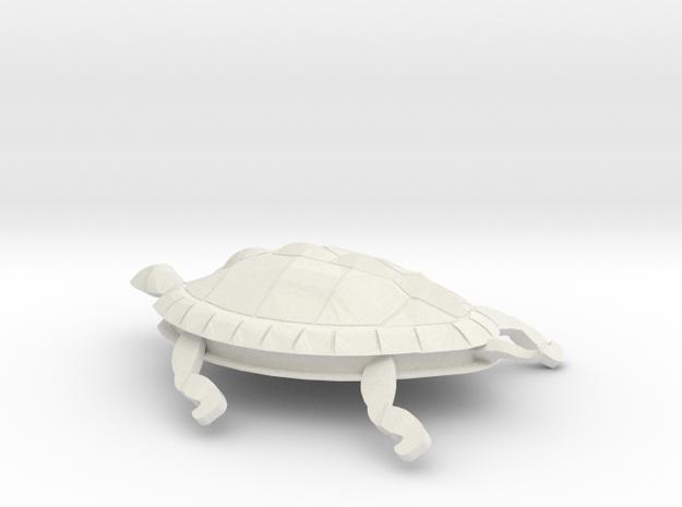 Turtle in White Natural Versatile Plastic