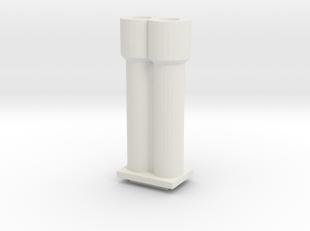 Cannons for Turret MK II in White Natural Versatile Plastic