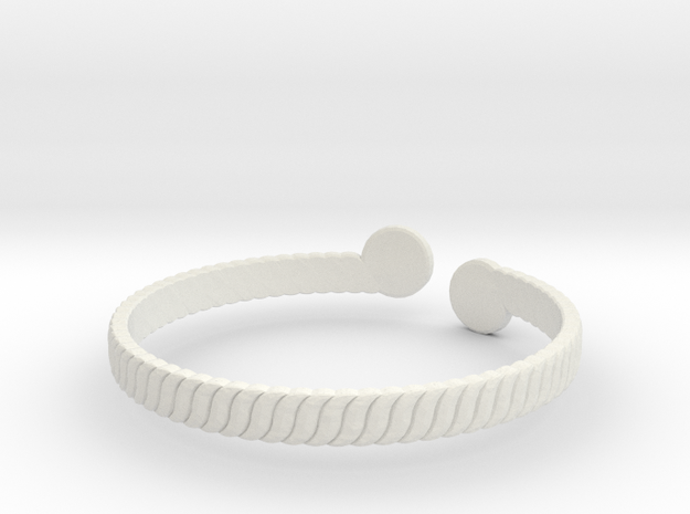 Simple Braided Bracelet -v1b in White Strong & Flexible