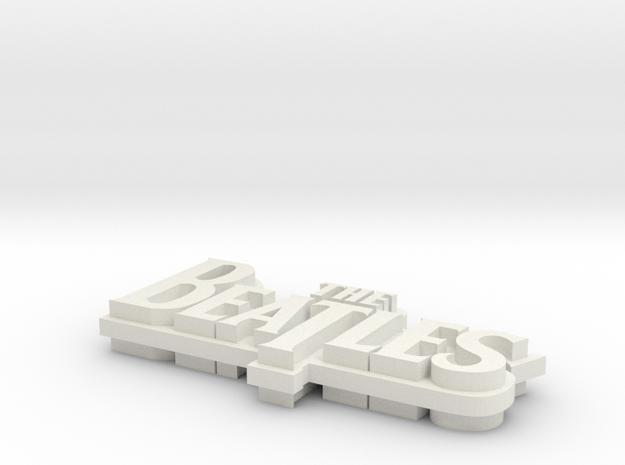 """Beatles"" Inspired Necklace Pendant - Mini in White Natural Versatile Plastic"