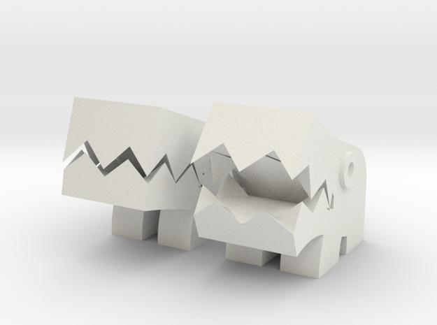 Shisa (Pair mascot) in White Natural Versatile Plastic