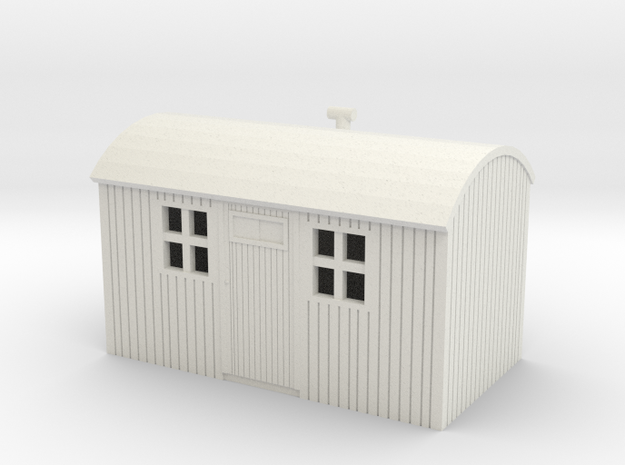 NZR Workmens Hut 1:120 in White Natural Versatile Plastic