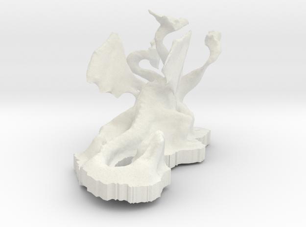 Dragon3 in White Natural Versatile Plastic