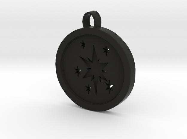 Twilight sparkle cutie mark circle pendant 3d printed