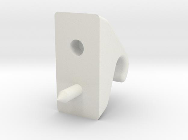 Murray_visor_clip in White Natural Versatile Plastic