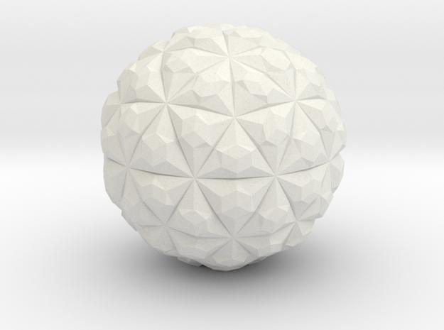 Tetra Sphere in White Natural Versatile Plastic