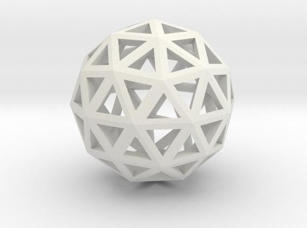 Artsy Sphere in White Natural Versatile Plastic
