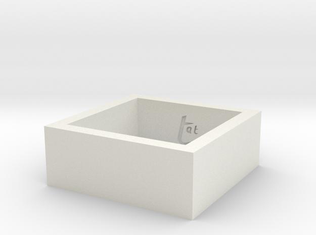 SquareRing_17mmx8mm in White Natural Versatile Plastic