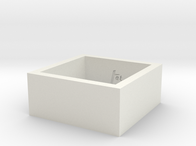 SquareRing_19mmx10mm in White Natural Versatile Plastic