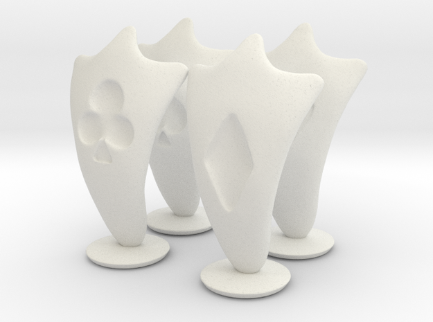 Pawn Chess Pieces in White Natural Versatile Plastic