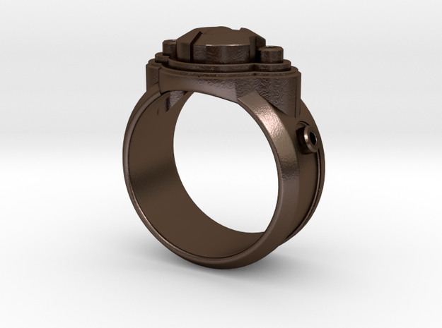 Space Ship Ring 3d printed