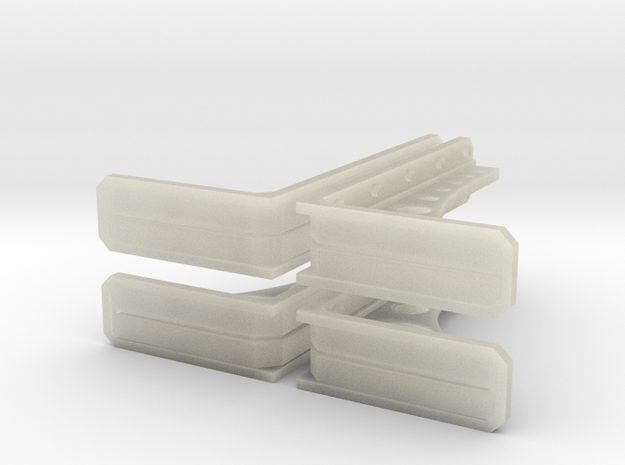 Structural Wall Brace 1 (x4) in Transparent Acrylic