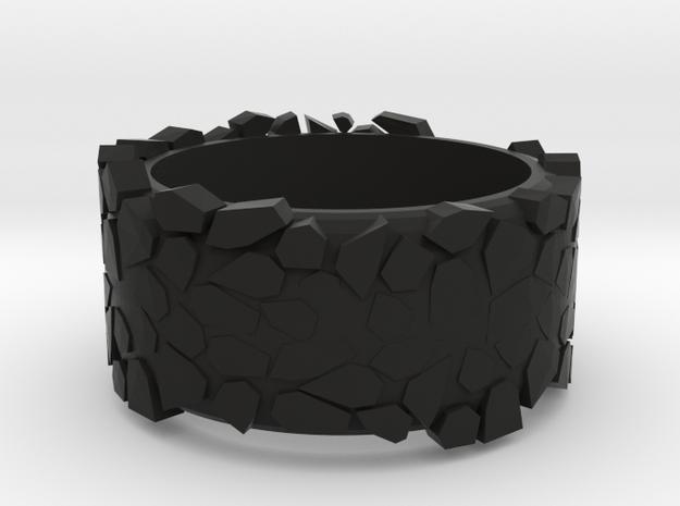 rock ring in Black Natural Versatile Plastic
