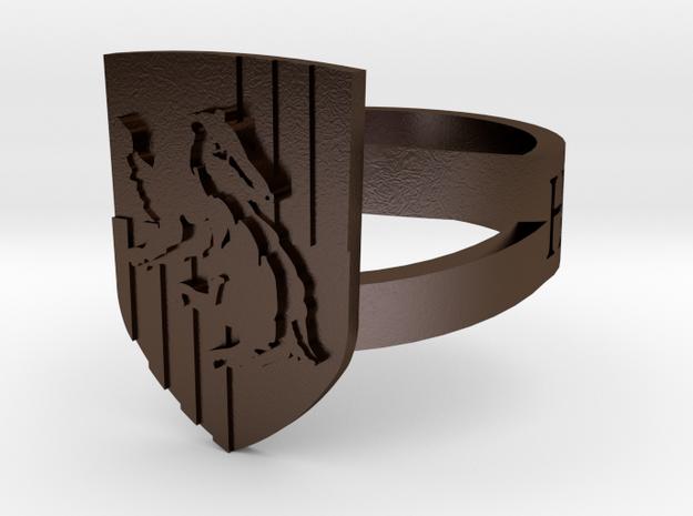 Hufflepuff Ring Size 11 3d printed