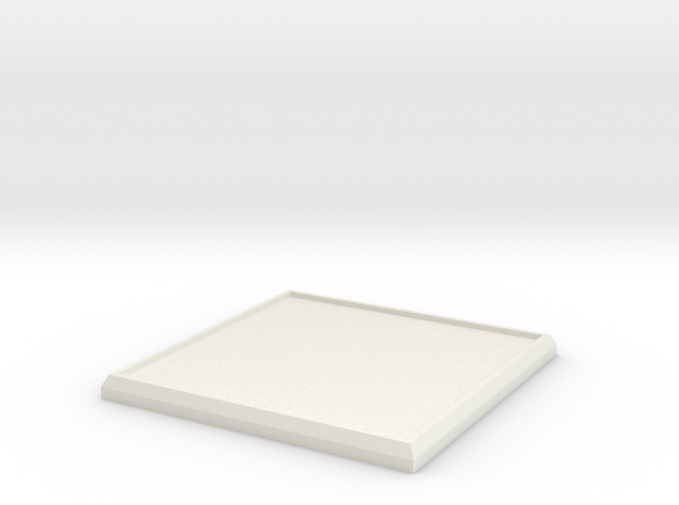 Square Model Base 45mm in White Natural Versatile Plastic