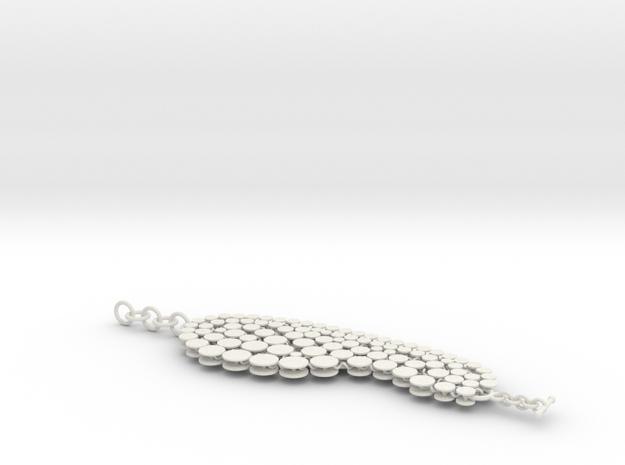 N12.bracelet in White Natural Versatile Plastic