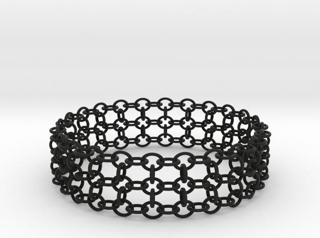 3in Samurai Bracelet in Black Natural Versatile Plastic
