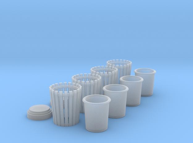 4 Mülleimer 1:45 in Smooth Fine Detail Plastic