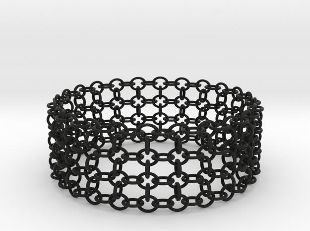 3in Shogun Bracelet in Black Natural Versatile Plastic