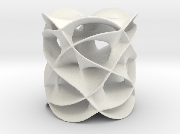Riemann Surface 2 in White Natural Versatile Plastic