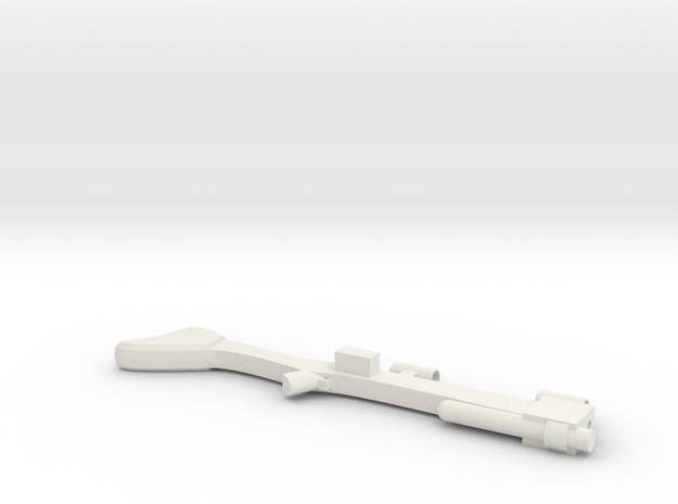 Blaster Rifle in White Natural Versatile Plastic