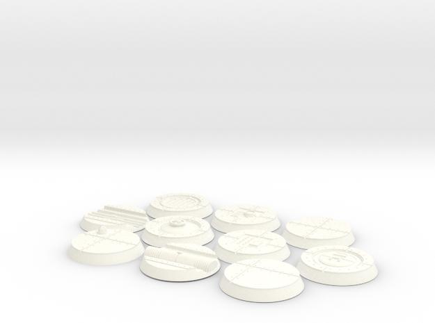 25mm Indoor Industrial wargaming bases 3d printed