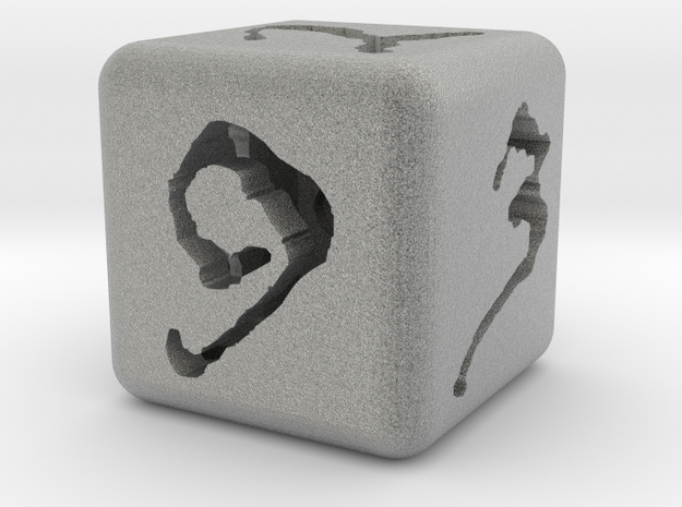 Hollow #'d Dice 3d printed