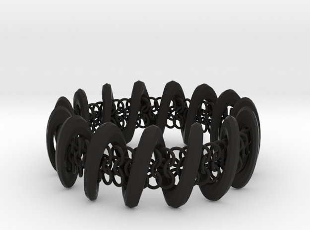 2.6in x .9in Trapped Chain in Black Strong & Flexible
