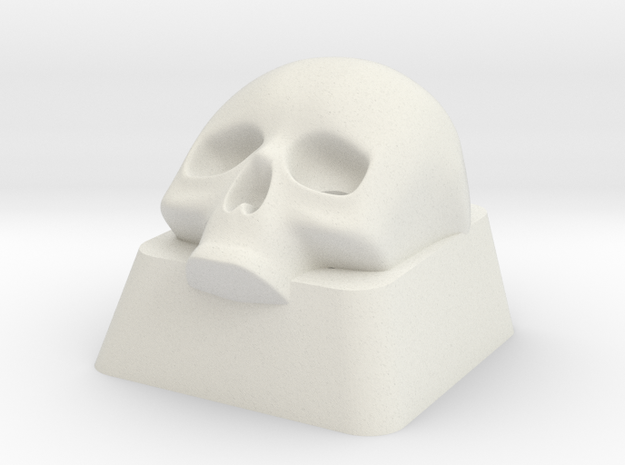 Key Lower Skull in White Natural Versatile Plastic