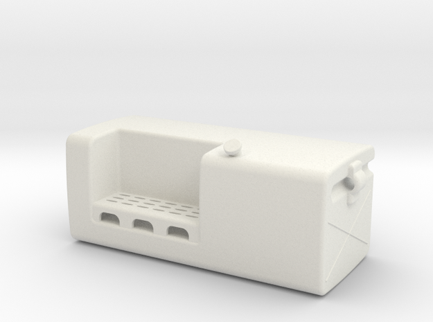 Fuel-tank-large LH in White Natural Versatile Plastic
