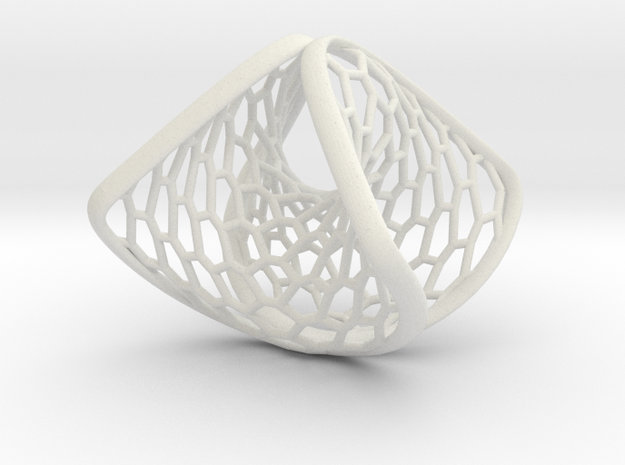 Wearables | ring | concave convex border | hexagon in White Natural Versatile Plastic