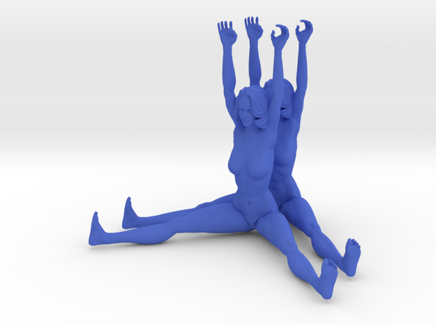 The Human Cube - 2 female elements - Naked Geometr 3d printed