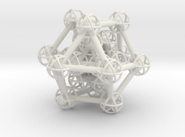 Hyper Cuboctahedron study in White Strong & Flexible