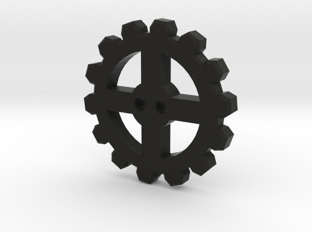 Cogwheel Button 01 3d printed