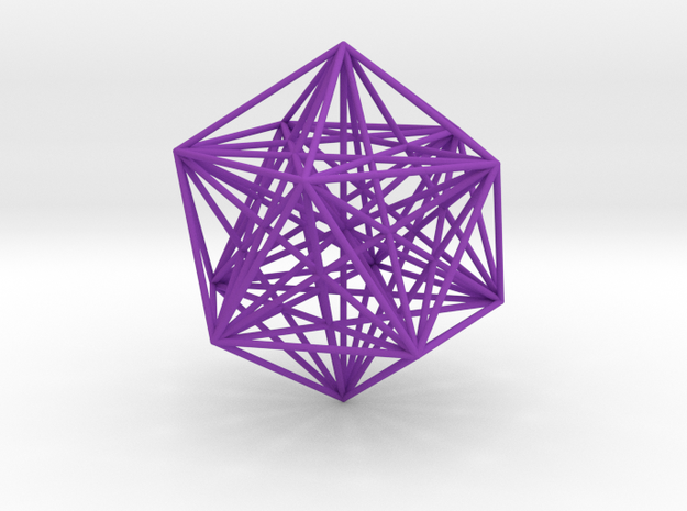 Sacred Geometry: Icosahedron with Stellated Dodeca 3d printed