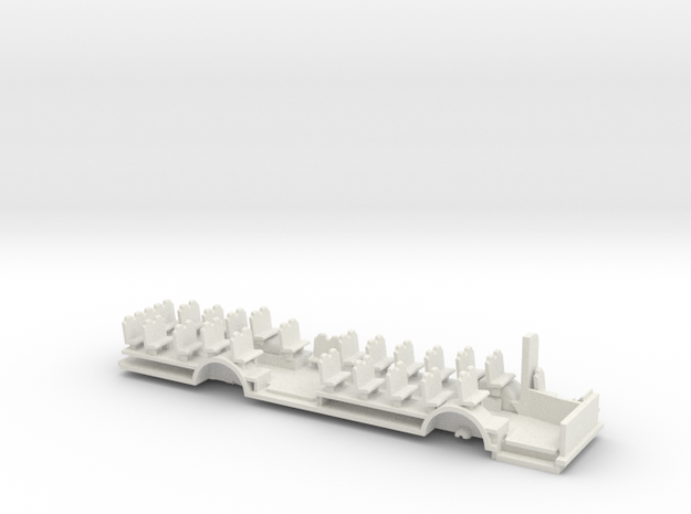 Chassis for Volvo B10m In H0 scale in White Strong & Flexible