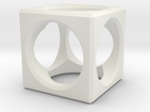 Aircube in White Natural Versatile Plastic