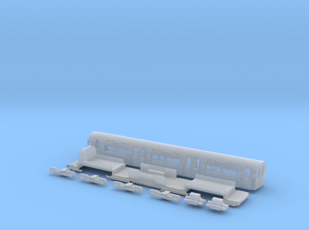 NT95DMu 1:148 95 tube stock driving motor (unpower in Frosted Ultra Detail