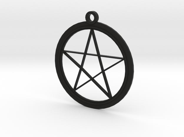 Pentagram Necklace 3d printed