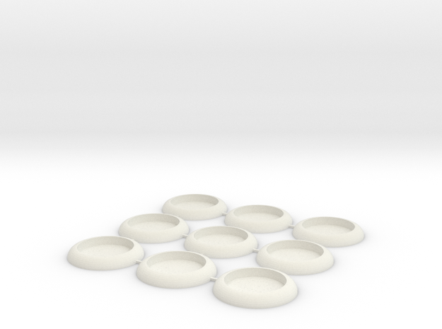 30mm Socket Base in White Natural Versatile Plastic