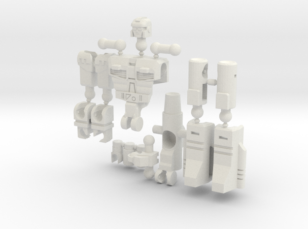 """Dustup"" Gunslinger figure - Version 2 in White Natural Versatile Plastic"