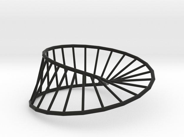 Moebius Line | Napkin Ring in Black Natural Versatile Plastic
