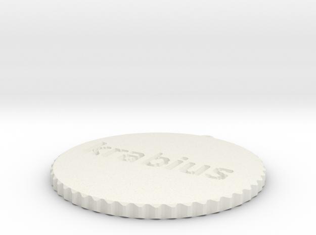by kelecrea, engraved: krabius in White Natural Versatile Plastic